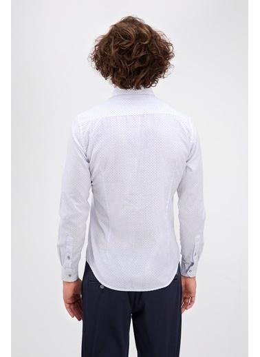 Avva Puantiyeli Gömlek Beyaz